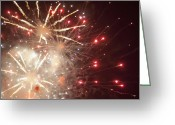Pyrotechnics Greeting Cards - Firework Greeting Card by Igor Sinitsyn