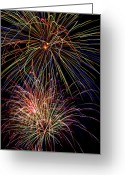 4th July Greeting Cards - Fireworks Celebration Greeting Card by Garry Gay
