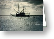 Fishing Boat Greeting Cards - Fishing Boat Greeting Card by Joana Kruse