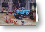 Conformist Greeting Cards - Flat Tire Greeting Card by Gail Daley