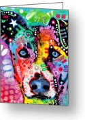 Mutt Greeting Cards - Flipped Greeting Card by Dean Russo