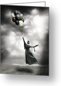 Edwardian Greeting Cards - Floating Greeting Card by Joana Kruse
