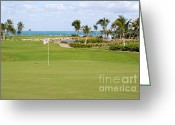 Golf Green Greeting Cards - Florida Gold Coast Resort Golf Course Greeting Card by ELITE IMAGE photography By Chad McDermott