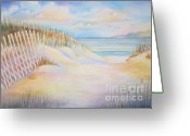 Beach Scenes Greeting Cards - Florida Skies Greeting Card by Deborah Ronglien