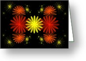 Digital Flower Greeting Cards - Flowers Greeting Card by Sandy Keeton