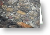 Mark Lehar Greeting Cards - Flowing Stone Greeting Card by Mark Lehar