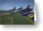 Airplane Greeting Cards - Flying With The Aero L-39 Albatros Greeting Card by Daniel Karlsson