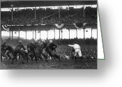 Carousel Collection Greeting Cards - Football Game, 1925 Greeting Card by Granger