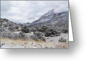 Luz Greeting Cards - Foothills Frost Greeting Card by Andrea Hazel Ihlefeld
