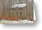 Old Abandoned House Greeting Cards - Forgotten Dreams Greeting Card by Pamela Baker