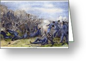 African American Greeting Cards - Fort Pillow Massacre, 1864 Greeting Card by Granger