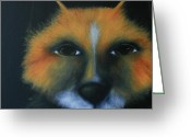 Deb Harvey Greeting Cards - Fox Greeting Card by Deb Harvey