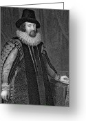 Cuffs Greeting Cards - Francis Bacon (1561-1626) Greeting Card by Granger
