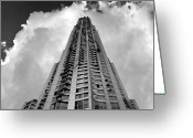 Daniel Greeting Cards - Frank Gehry High Rise Lower Manhattan Greeting Card by Robert Ullmann
