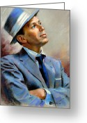 Fly Greeting Cards - Frank Sinatra  Greeting Card by Ylli Haruni
