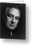 Democrats Greeting Cards - Franklin Roosevelt Greeting Card by War Is Hell Store