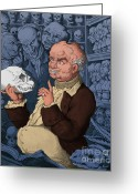 Physiognomy Greeting Cards - Franz Josef Gall, German Physiognomist Greeting Card by Science Source