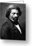 Frederick Greeting Cards - Frederick Douglass Greeting Card by Granger