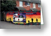 Regiment Greeting Cards - Freedom Corner Mural Belfast Greeting Card by Thomas R Fletcher