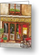Brasserie Greeting Cards - French Storefront 1 Greeting Card by Debbie DeWitt