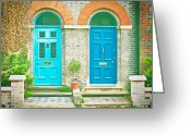 Two By Two Greeting Cards - Front doors Greeting Card by Tom Gowanlock