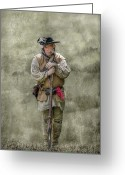 Rangers Greeting Cards - Frontiersman Portrait Greeting Card by Randy Steele