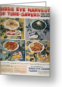 Birdseye Greeting Cards - Frozen Food Ad, 1957 Greeting Card by Granger