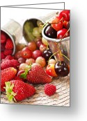 Sweet Greeting Cards - Fruits and berries Greeting Card by Elena Elisseeva