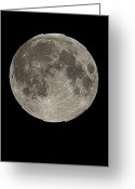 Fourteen Greeting Cards - Full Moon Greeting Card by Eckhard Slawik
