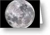 Lunar Mare Greeting Cards - Full Moon Greeting Card by John Sanford