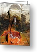 Pouring Greeting Cards - Furnas - Azores islands Greeting Card by Gaspar Avila