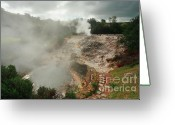 Sleeping Volcano Greeting Cards - Furnas volcano - Azores Greeting Card by Gaspar Avila