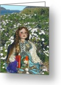 Pre-raphaelites Photo Greeting Cards - Gabriella Elizabeth Rossetti Greeting Card by Adrianne Wood