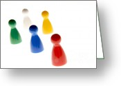 Colours Greeting Cards - Game pieces in various colours Greeting Card by Bernard Jaubert
