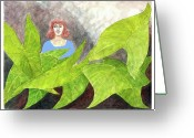 Happy Texas Artist Greeting Cards - Garden Fantasy  Greeting Card by Fred Jinkins