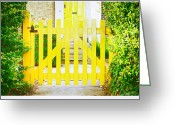 Fence Row Greeting Cards - Garden gate Greeting Card by Tom Gowanlock