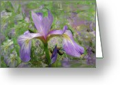 Viola Tricolor Greeting Cards - Garden of Eden Painting  Greeting Card by Don  Wright