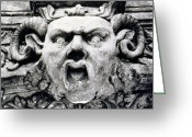 Bamberg Greeting Cards - Gargoyle Greeting Card by Simon Marsden