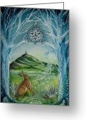 Tor Painting Greeting Cards - Gateway Greeting Card by Lisa OMalley