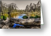 Selective Color Greeting Cards - Gateway Greeting Card by Stephen Campbell