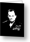 Marine Corps Greeting Cards - General Lewis Chesty Puller Greeting Card by War Is Hell Store