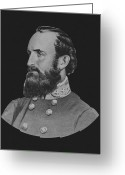 Pride Painting Greeting Cards - General Stonewall Jackson Greeting Card by War Is Hell Store