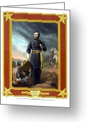 Presidential Portrait Greeting Cards - General US Grant Greeting Card by War Is Hell Store