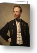 Civil Painting Greeting Cards - General William Tecumseh Sherman Greeting Card by War Is Hell Store
