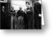 Civil Rights Greeting Cards - George C. Wallace Greeting Card by Granger