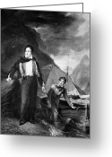 Cravat Greeting Cards - George Gordon Byron Greeting Card by Granger
