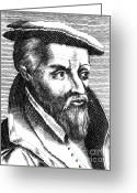 1555 Greeting Cards - Georgius Agricola, German Scholar Greeting Card by Science Source