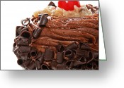 Chocolate Fudge Greeting Cards - German Chocolate Cupcake 3 Greeting Card by Andee Photography