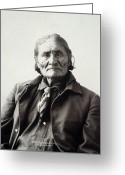 Turn Of The Century Greeting Cards - Geronimo (1829-1909) Greeting Card by Granger