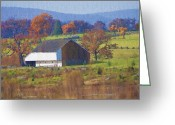 Gettysburg Greeting Cards - Gettysburg Barn Greeting Card by Bill Cannon
